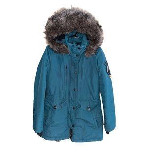 SUPERDRY Everest Parka Coat Size 4